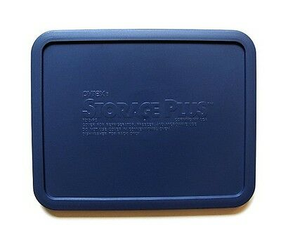 Blue Pyrex® 11 Cup Rectangular Plastic Storage Cover Lid New