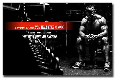 Fitness Bodybuilding Silk Poster Print Motivational Sports Quotes