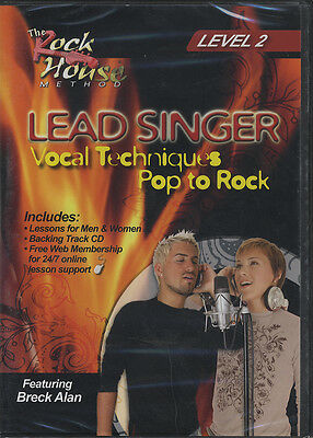 RRP 14.95 Lead Singer Vocal Techniques Pop to Rock DVD 2 Learn to Sing Tuition