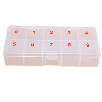 False Nail Art Tips Display Box Case Container Storage For 500pcs ACRYLIC TIPS