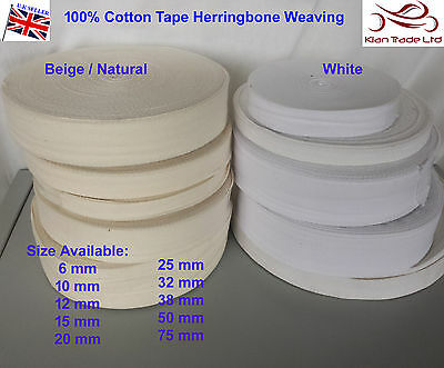 65mm BEIGE//NATURAL GROSSGRAIN Bunting cotton binding Upholstery tapex5