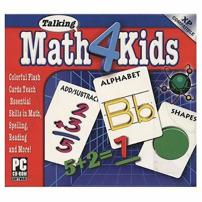 Talking Math 4 Kids - Cosmi Colorful Flash Cards Add Subtract Early Learn PC NEW