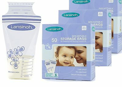 Lansinoh Breastmilk Storage Bags - Packs 25, 50, 75, 100, 150, 200