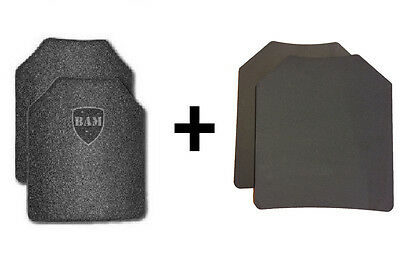 Body Armor l AR500 Steel Plates | Base Frag-Spall Coating | Level III -11x14