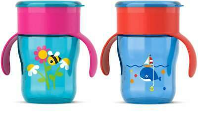 Avent - Grown Up Cup - 12m+ 260ml - CHOOSE COLOUR - Sippy Bottle - Brand New