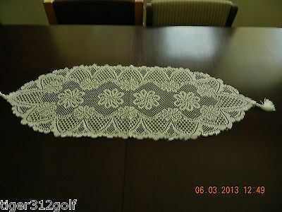 Lace Pattern Sml Flower Table Runner 33X182 13X72 Ins 100% Polyester.