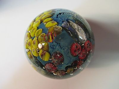 Josh Simpson  Studio Glass Paperweight - Inhabited Planets