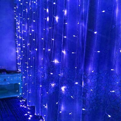 AU 3M/6M*3M Outdoor/Indoor Xmas Lighting Party String Light Wedding Curtain Blue