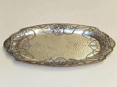 """Antique Vintage """"lady Claire"""" Silverplate 8"""" Ornate Vanity Tray - Model C235"""