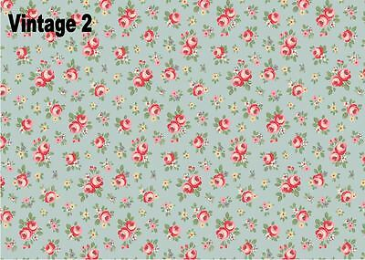 Vintage Floral Shabby Chic Edible A4 Icing Sheets for Cake Board Decorations