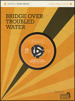 Bridge Over Troubled Water Simon Garfunkel Piano Singles Sheet Music Book/Audio