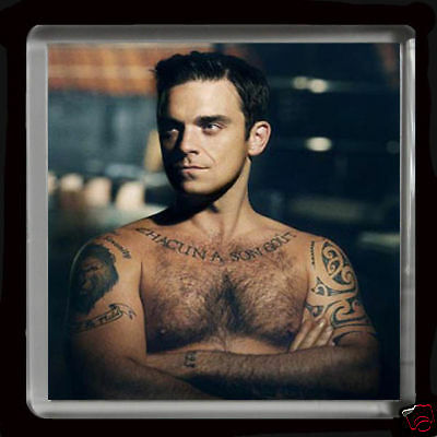 ROBBIE WILLIAMS   LARGE FRIDGE MAGNET 60mmX 60mm