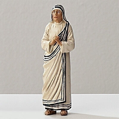 Statue St Mother Teresa 3.5 inch Painted Resin Figurine Patron Saint Catholic