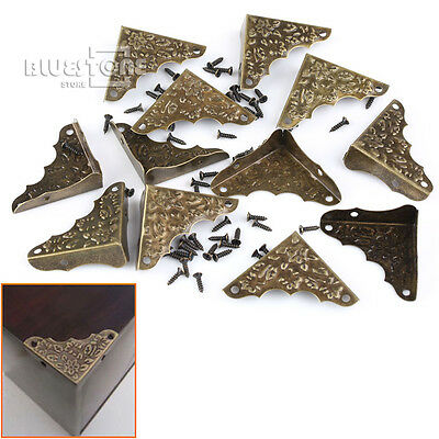 12 x Decorative Iron Corner Protector Guard 37mm For Jewelry Wine Gift Wood Box