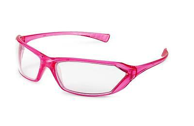 Gateway Metro Pink Frame Clear Lens Safety Glasses Womens Girlz Gear Z87+