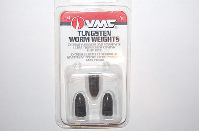vmc tungsten bass texas rig worm sinker weight 1/4oz black tw14bk