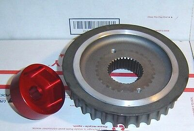 Sportster 32 Tooth Aluminum Pulley & Tools '04-Up Front Overdrive 55, 32TAS-2B