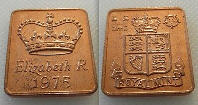 Collectable Royal Mint Proof Year Medallion Medal Token 1975 - Elizabeth R