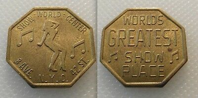 Collectable Show Girls Peep Show Token N.Y.C , 42 St / Nude-Rude / Lot 2