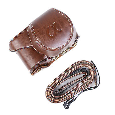 New Leather Camera Case Bag for SONY Alpha A5000 A5100 ILCE-5000L NEX-3N 16-50mm
