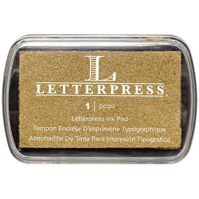 Letterpress Ink Pad-Gold by We R Memory Keepers