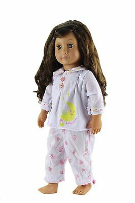 """2in1 Lovely Sleepwear Pajamas Clothes Outfit  For 18"""" American Girl Doll NEW"""