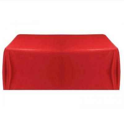 Tablecloth Table Cover Red for Banquet Wedding Party Decor 145x145cm
