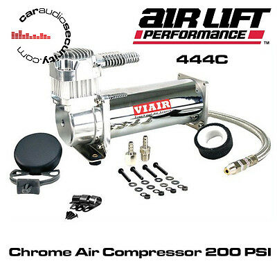 AirLift Viair 444c - Compressor with Standard Rubber Mounting Feet Chrome