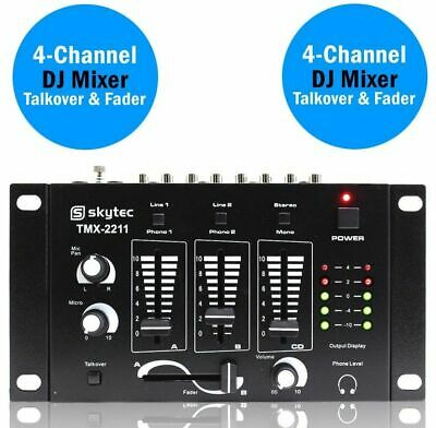 MIXER KARAOKE O DEEJAY DJ 3 CANALI con talkover + ingressi MIC + out cuffie