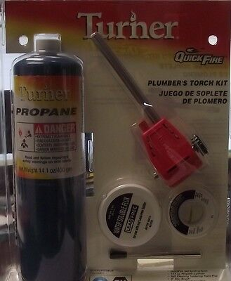 Turner TU6300KC Plumbers Torch Kit Quick Fire USA
