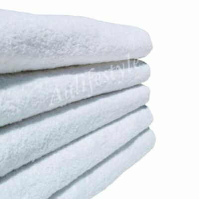 BULK LOT 6x LUXURY EXTRA LARGE BATH SHEET 100% COTTON HOTEL TOWEL WHITE 154CM