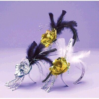 1 Evening Elegance Rose Feather Tiara New Years Eve Party Supplies
