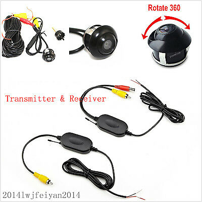 2.4G Wireless Car Reverse Parking Rearview Backup 360° Rotatable HD Camera Kits