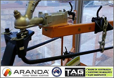 TAG 180kg (400lb) Weight Distribution Hitch Kit / Anti Sway Bars / Level Riders