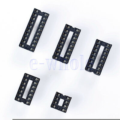 10Pcs/Each 8 14 16 18 20 Pin Dip Ic Socket Adaptor Solder Type Double In-Line EW