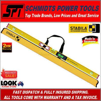 STABILA 1200mm DIGITAL SPIRIT LEVEL BACKLIT 1.2m 196-2 ELECTRONIC IP 65 - 17673