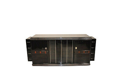 Large Art Deco Sideboard With Wood Applications