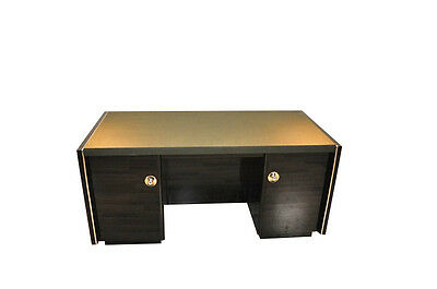 Massive Art Deco Desk With Leather Plate