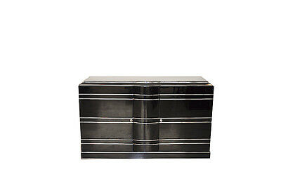 Art Deco Sideboard And Chrome Liner