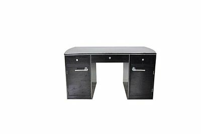 Art Deco Desk With A Slightly Oval Body And Chrome Line