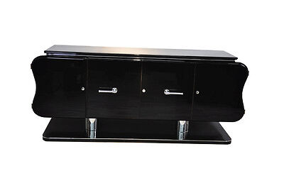 Rare Curved Art Deco Sideboard