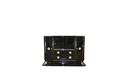 Art Deco Piano lacquer Sideboard with great Form