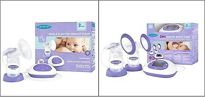 Lansinoh Single or Double Electric 2 in 1 Breast Pump New