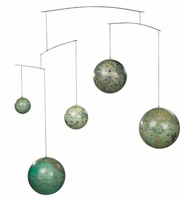 G341: Globe Mobile, Globes Time travel, globes from 5 Centuries as mobile