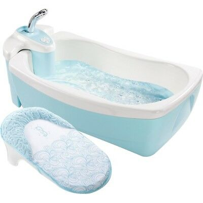 Summer Infant Lil' Luxuries Whirlpool, Bubbling Spa and Shower, Blue 18863