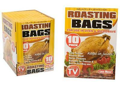10X Large Roasting Bags Mircowave Ovens Cooking Poultry Chicken Turkey Meat Fish