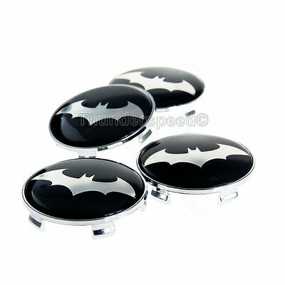 4x 68mm Car Wheel Center Hub Cap Dark Knight Batman Emblem Badge Decal Sticker