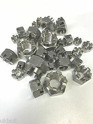30 pcs 6mm 8mm 10mm 12mm 16mm stainless Slotted Castle Nuts 30 assorted bargain.