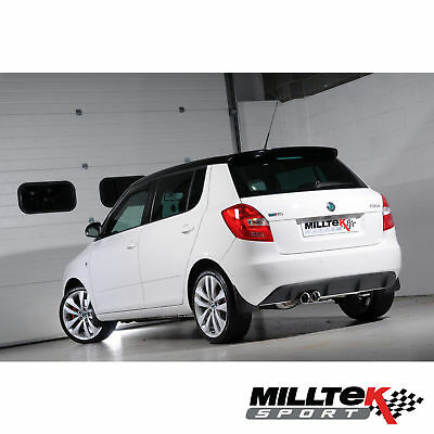 "Milltek SSXSK023 Skoda Fabia 5J VRS 1.4 TSI 2.76"" Cat Back (Resonated)"