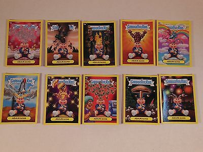 2011 GARBAGE PAIL KIDS Flashback Series 3 FB3 Complete YELLOW Adam Mania Set WOW